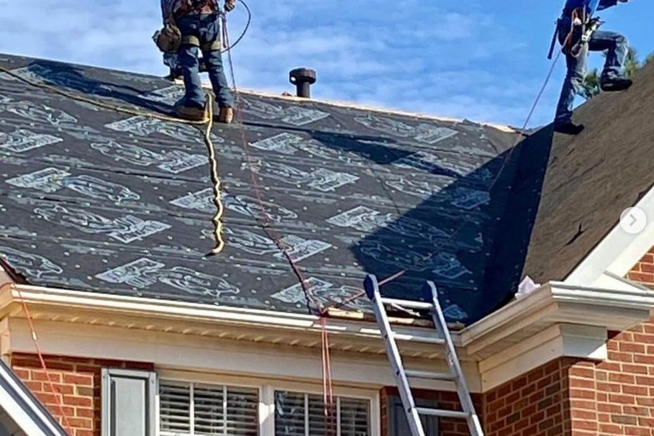 Installing new roof